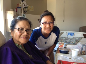 Mom at the hospital in March 2014