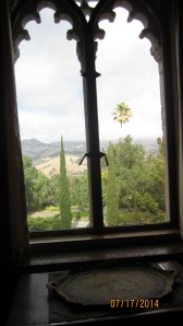The view from Mr. Randolph Hearst bedroom