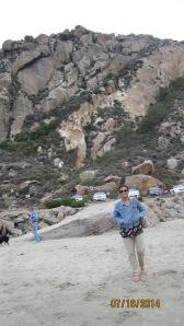 Behind the big Morro Rock - over 250  species of birds