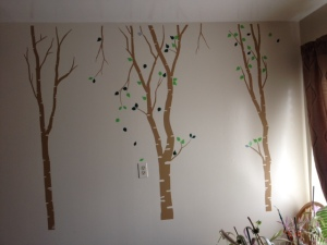 Finished wall. I might out more leaves later on.