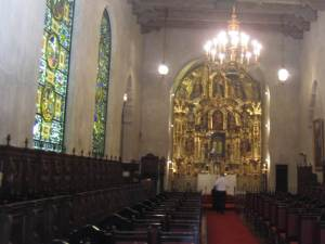 Inside the St. Francis chapel